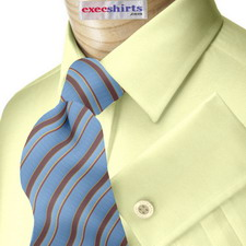 Custom Yellow Broadcloth Bespoke Dress Shirt