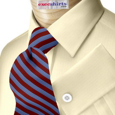 Yellow Herringbone Dress Shirt