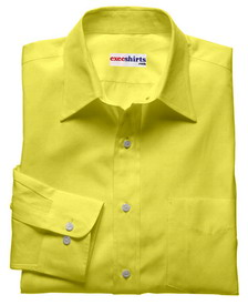 Yellow Linen Shirt With Neck Tie