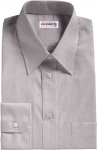 Lt. Gray Egyptian Cotton Broadcloth Dress Shirt