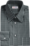 Black Checked Egyptian Cotton Shirt