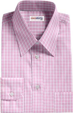 Pink Checked Egyptian Cotton Shirt