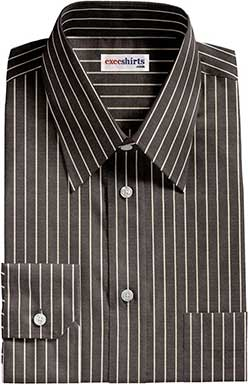 Black Pinstripe Dress Shirts