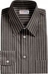 Black Pinstripe Dress Shirt