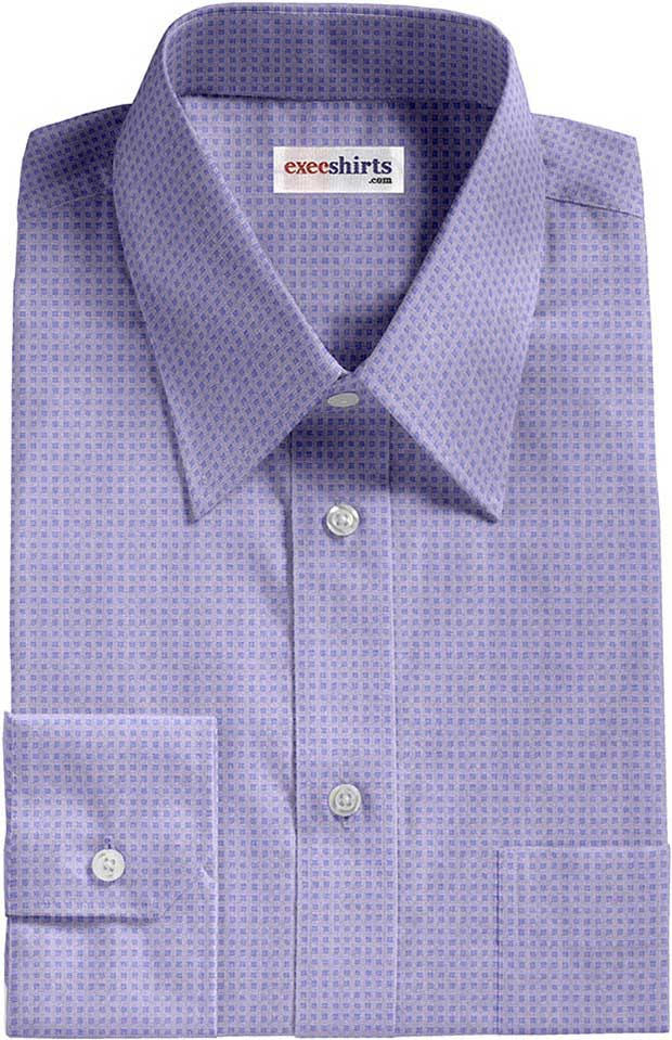 Blue Checked Weave Dress Shirt