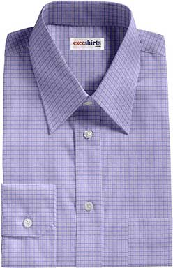 Blue Checked Weave Dress Shirt 2