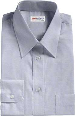 Blue Pinpoint Dress Shirts 1