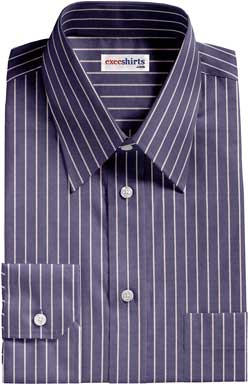 Blue/White Pinstripe Dress Shirt