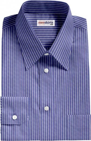 1e3ba3bc24ea58 Blue/White Pinstripe Dress Shirt