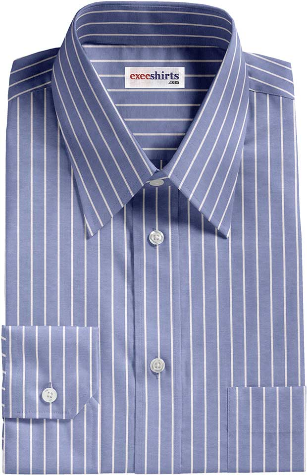 Blue/White Pinstripe Dress Shirt 2
