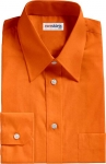Bright Orange Broadcloth Dress Shirt