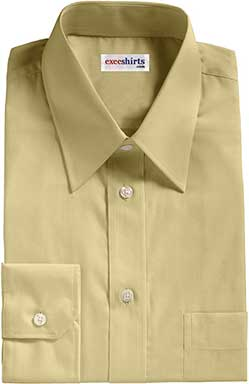 Brown Birdeye Pinpoint Dress Shirts