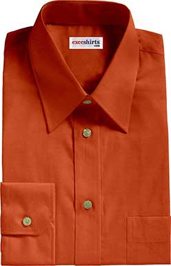 Burnt Orange Broadcloth Dress Shirt