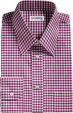 Dark Purple Checked Dress Shirt 2