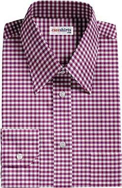 Dark Purple Checked Dress Shirt