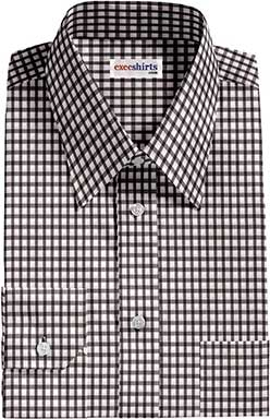Black Checked Dress Shirt 1