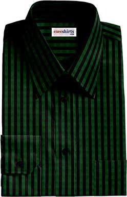 Checked Black/Green Dress Shirt