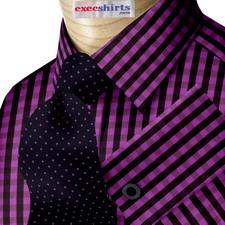 Checked Black/Purple Dress Shirt