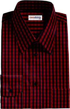 Black/Red Checked Dress Shirts