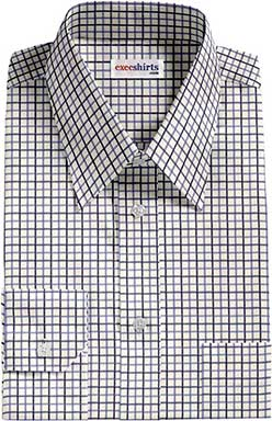Checked Blue/Lt. Blue Dress Shirts 1