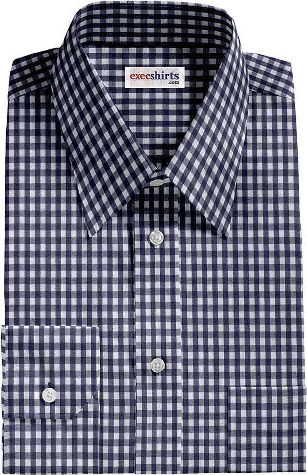Checked Blue Dress Shirt