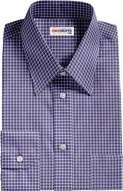 Checked Blue/White Dress Shirt
