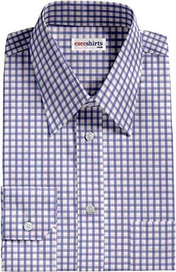 Check Lt. Blue Dress Shirt 2 With Neck Tie