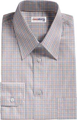 Men's Checked Lt. Blue/Red Dress Shirts