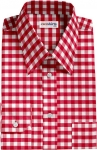 Red Large Checked Dress Shirt