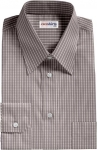 Light Gray Checked Dress Shirt