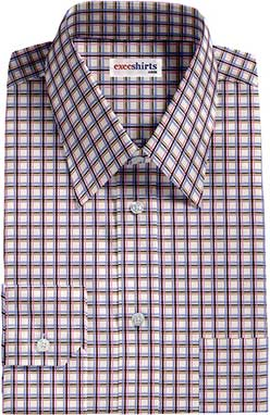 Men's Multi Colored Checked Dress Shirts