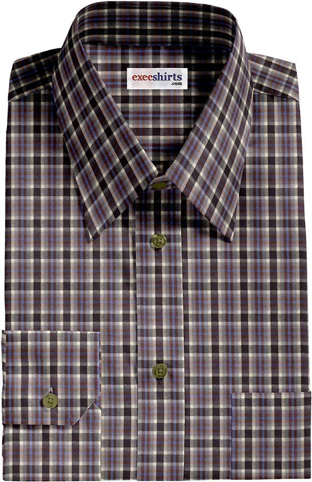 Checked Multi Colored Dress Shirt 2