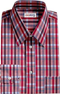 Multi Colored Checked Dress Shirt 4 With Neck Tie