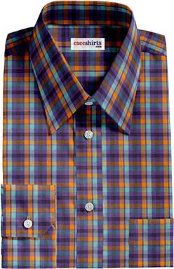 Checked Multi Colored Dress Shirt 5 With Neck Tie