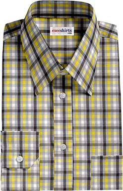 Multi Colored Checked Dress Shirt 6 With Neck Tie