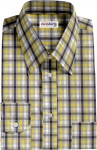Multi Colored Checked Dress Shirt 6