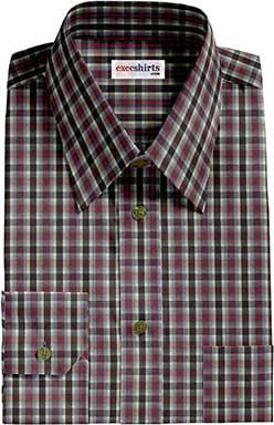 Checked Multi Colored Dress Shirt 7 With Neck Tie