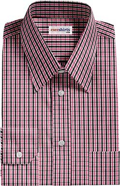 Pink/Black Checked Dress Shirt With Neck Tie