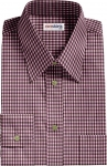 Pink/Brown Checked Dress Shirt