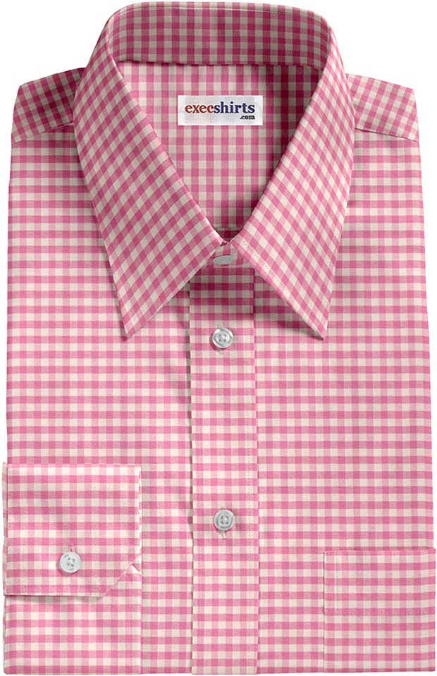 Pink Checked Dress Shirt