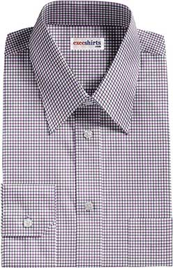 Purple/Blue Checked Dress Shirt 2 With Neck Tie