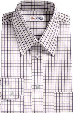 Checked Purple Dress Shirts 1 With Neck Tie