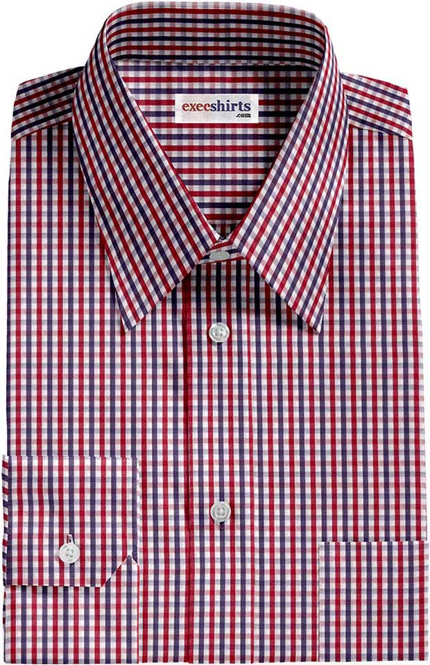 Red/Blue Checked Dress Shirts