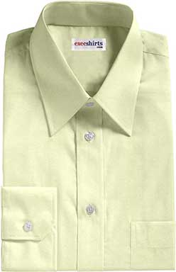 Cream Broadcloth Dress Shirt