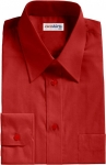 Dark Red Broadcloth Dress Shirt
