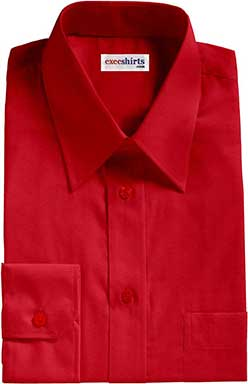 Men's Bright Red Oxford Dress Shirts