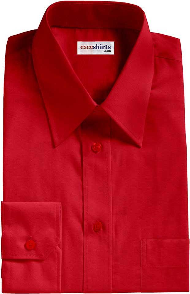 Bright red oxford dress shirt execshirts for Bright mens dress shirts