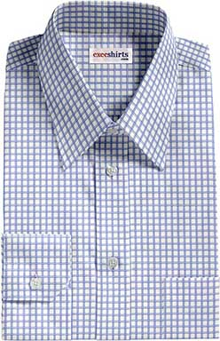 Blue/White Checked Eqyptian Cotton Shirt
