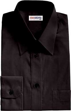Black Egyptian Cotton Pinpoint Dress Shirts