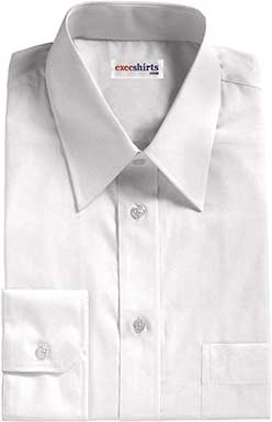 White Egyptian Cotton Broadcloth Dress Shirt 2